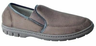 Dr LIGHTFOOT Mens Brown Luxury Fleeced Lined Moccasins Slippers UK Size 7/41 NEW