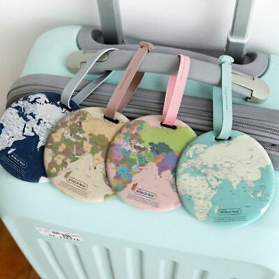 Universal Travel World Map Luggage Tag For Name ID Label Suitcase Bag Airplane