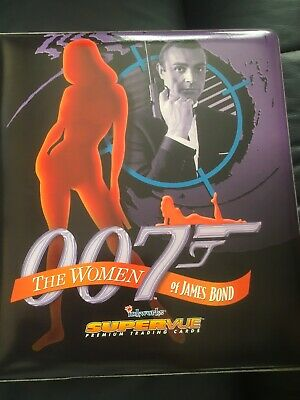 Women Of James Bond 007  72 Trading Card Set,3 Chase Cards, Binder And Sleeves