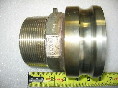 """Dixon 3"""" Male NPT X 4"""" Male Camlock Cam & Groove Adapter 316 Stainless Steel"""