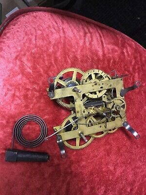 antique E. INGRAHAM Clock Movement U.S.A. ~parts~to restore~to repair~~AS-IS