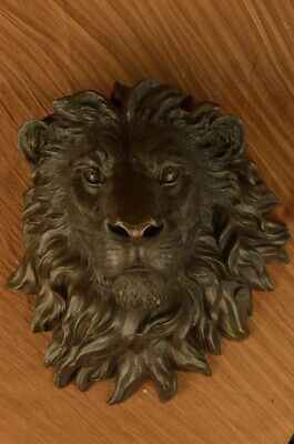 Wall Charmers Mounted 100% Real Bronze Lion Head, Standard, Classic, Metal Gift