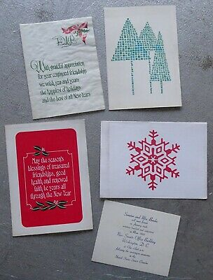 Massachusetts Senator Ed Brooke - 4 Christmas Cards + 1967 Invitation