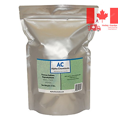 Ferrous Sulfate Heptahydrate - FeSO47H2O - 20 Iron - Very Soluble - 5 Pounds