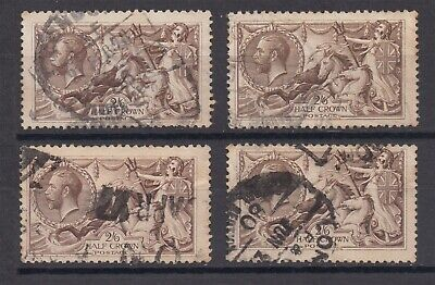 Lot:31511  GB George V  2s6d brown seahorse stamp selection