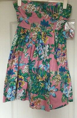 Pretty Mini Sun Dress, Cotton , Pink Floral, Newlook, Size 10, New, With Straps