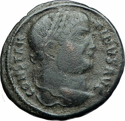CONSTANTINE I the GREAT 326AD Authentic Ancient Roman Coin Camp gate i80228