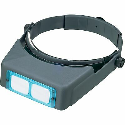 "Donegan OptiVISOR Binocular Magnifier DA-7, 2-3/4X, 6"" WITH GLASS LENSES"