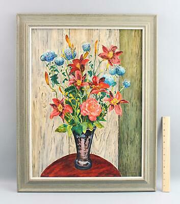 Authentic Elsie Miller EDE-ELSE Summer Flower Bouquet Still Life Oil Painting