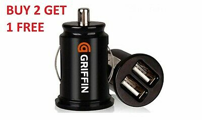 Griffin Compact Dual Twin USB Car Charger for Smartphones 2x 1 Amp 12V