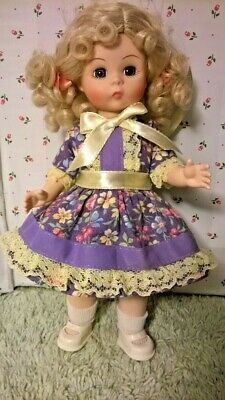 """SSO DOLL CLOTHES LAVENDER DRESS & PANTY for 7-8"""" GINNY MUFFIE ALEXANDER & LALs"""