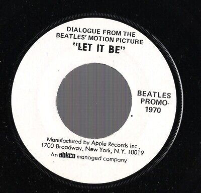 Dialogue From The Beatles Motion Picture Let It Be Apple '70 45