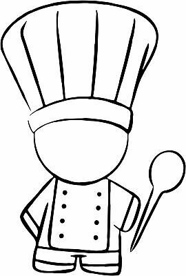 Chef Decal 31, Burger Van Stickers, Catering Trailer, Cafe, 740mm x 500mm