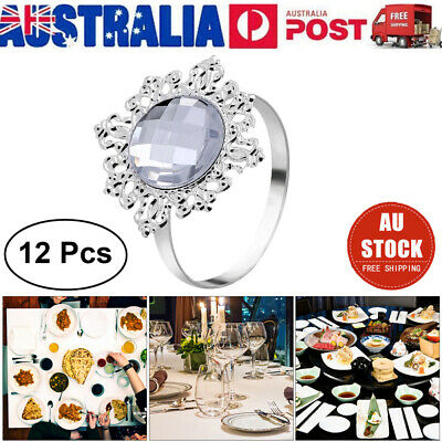12pcs Acrylic Napkin Rings Rustic Napkin Holders fr Wedding Dinner Party Banquet