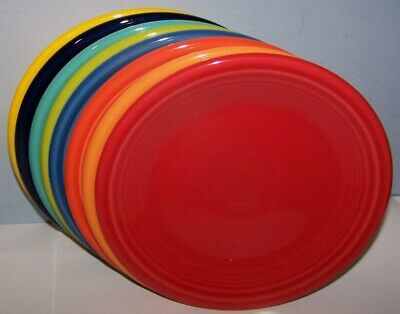 NEW SET LOT OF 8 FIESTAWARE MIXED COLORS SALAD PLATES FIESTA RETIRED t