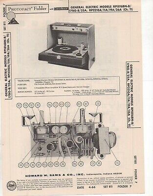1966 General Electric Rp-1816Bn Record Changer Amp Service Manual Photofact Fix