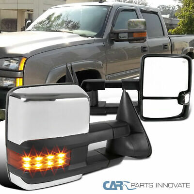 03-06 Silverado Sierra Facelift Style Power Heated LED Signal Towing Mirrors L+R