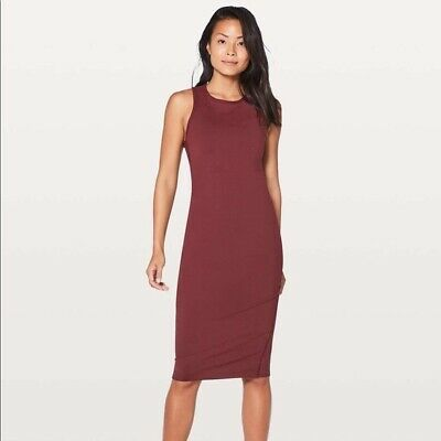 LULULEMON Picnic Play Dress Women's Dress Brick Red Size 12 NEW w/Tags $118