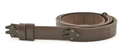 M1907 MILITARY LEATHER RIFLE SLING Dated 1942 M1GARAND SPRINGFIELD Dark