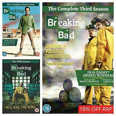 Breaking Bad DVD Box Set Season 1 2 3 4 5 Complete Collections Series 1-5 DVD