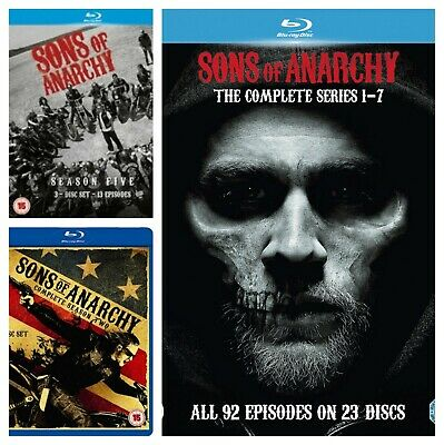 Sons of Anarchy Season 1 2 3 4 5 6 7 Blu ray Box Set Complete Collections
