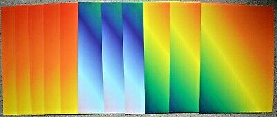 11 x A5 Shiny Rainbow Card 170gsm/230mic *NEW* ONLY £1.50