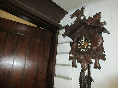 "19"" black forest or cuckoo clock complete"