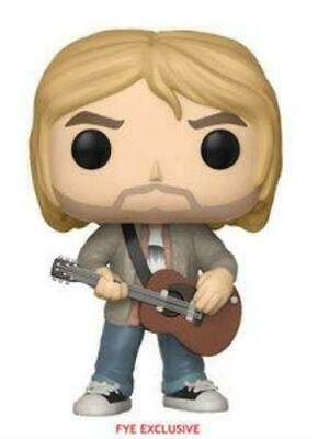 Funko Pop: Kurt Cobain (Tan Sweater) (In Protective Case)