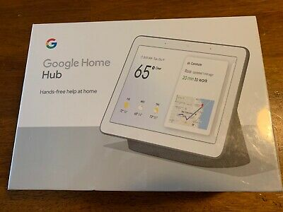 Google Home Hub with Google Assistant - Control All Smart Devices & More -SEALED