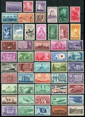 51 Different Mint NH US Commemorative Stamps - Vintage Issues Over 50 Years Old!
