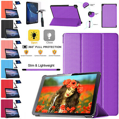 """Samsung Galaxy Tab A6 10.1"""" Inch T580/T585 Smart Leather Magnetic Case Cover"""