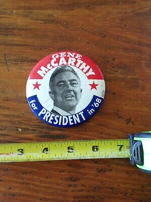 Gene McCarthy For President In '68 Political Pin