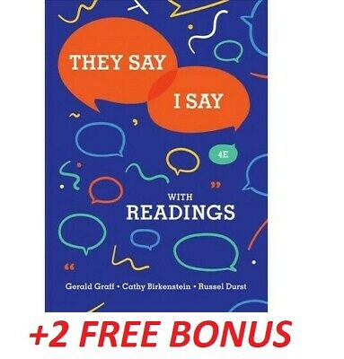 🎁 They Say I Say 4th Edition by Gerald Graff ✅ Get it FAST +2 BONUS ✅ EßOOK ✅