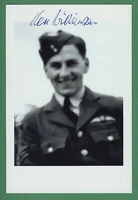 Ken Wilkinson WWII RAF Spitfire Pilot, Battle of Britain Signed 4x6 Photo E19143