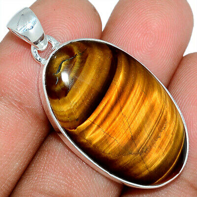 Tiger Eye - South African 925 Sterling Silver Pendant Jewelry AP101614