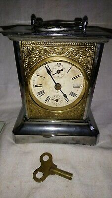 Old Mantel Alarm Clock For Spares Or Repairs