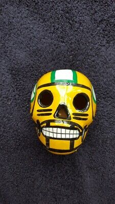 71775f7d GREEN BAY PACKERS Day Of The Dead Ceramic Hand Painted Sugar Skull ...