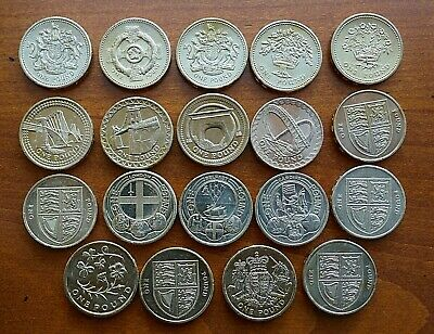Pound Coins 1983 - 2017 - Selected circulated - Royal Mint issue