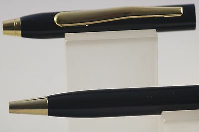 New Jinhao No. 310 Lacquered Black Ballpoint Pen with Gold Trim, UK Seller