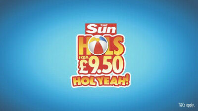 BOOK TODAY The Sun Holidays £9.50 Booking Codes 2019/2020