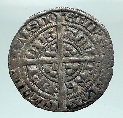 1362-72 ANGLO-GAELIC Edward of Woodstock Black Prince Genuine Silver Coin i80344