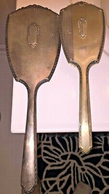 Antique Saart Brothers Victorian Sterling Silver Set Mirror & Comb 498 grams