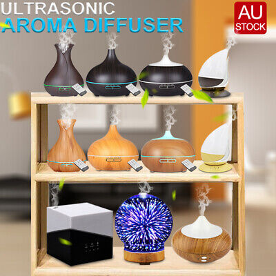 Aroma Diffuser Aromatherapy Ultrasonic Air Humidifier Oil Purifier LED Essential