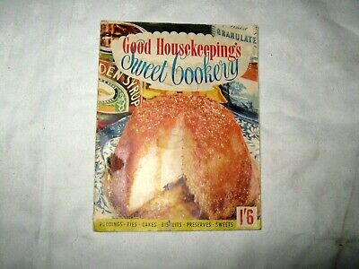 Vintage 1955 Good Housekeeping Sweet Cookery (Biscuit, Pastry) 32 page Magazine