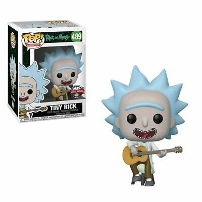 Funko Rick and Morty Tiny Rick with Guitar US Exclusive Pop! Vinyl 9.5cm Tall