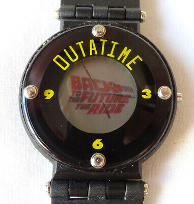 Vintage Universal Studios Hollywood Back To The Future The Ride OUTATIME Watch