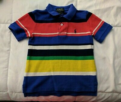 Ralph Lauren Toddler Boys Multi Colored Polo Shirt Size 2T