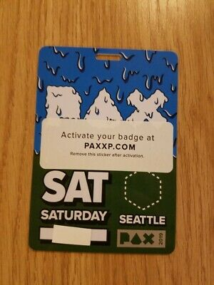 PAX West (Prime) 2019 Saturday Day Pass Badge Ticket - Seattle, WA - SOLD OUT