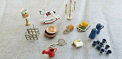 Doll House Kitchen Etc Accessories Bulk #3  Metal/ Enamel