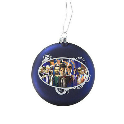 """Doctor Who Disc Shape 4"""" Glass Xmas Licensed Collectible Display Decor Ornament"""